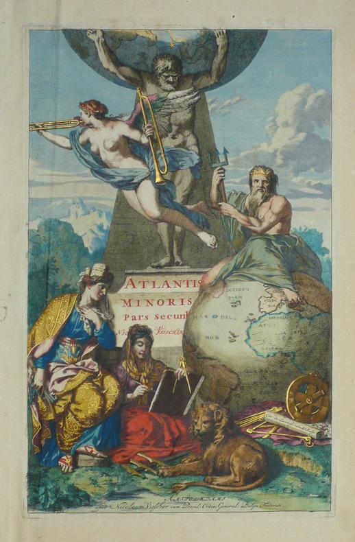 Frontispice pour l'Atlantis minoris - Pars secunda.. VISSCHER (Nicolas);