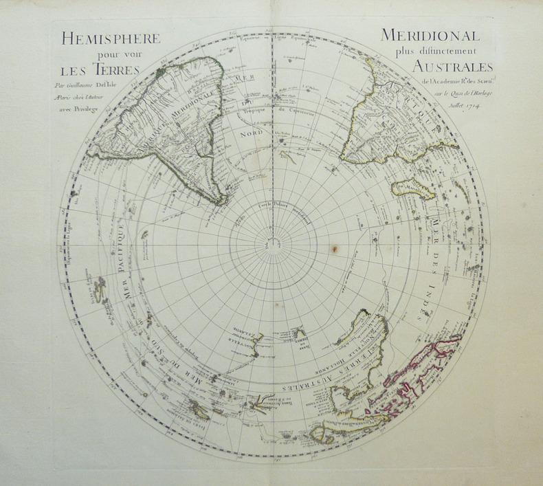 [POLES] Hémisphère septentrional pour voir plus distinctement les terres arctiques [et] Hémisphère méridional pour voir plus distinctement les terres ...