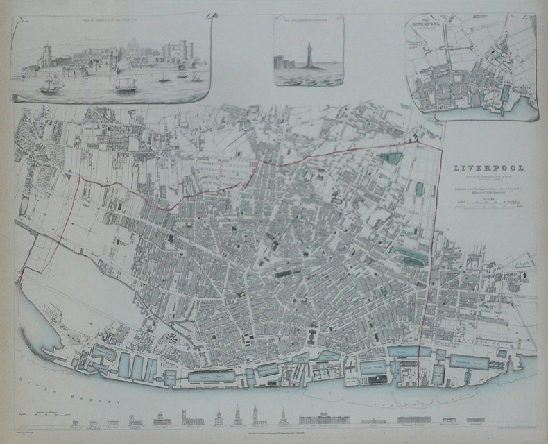 Liverpool reduced by permission from Mr. Gage's elaborate survey.. S.D.U.K.;