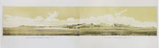 [HAWAII] Panorama de l'île d'Oahou pris du mouillage d'Honoloulou (Iles Sandwich).. DU PETIT-THOUARS (Louis-Marie Aubert).