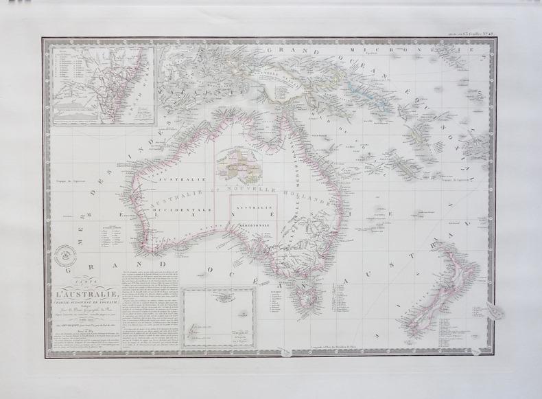 Carte de l'Australie (partie sud-ouest de l'Océanie).. BRUE (Adrien Hubert);