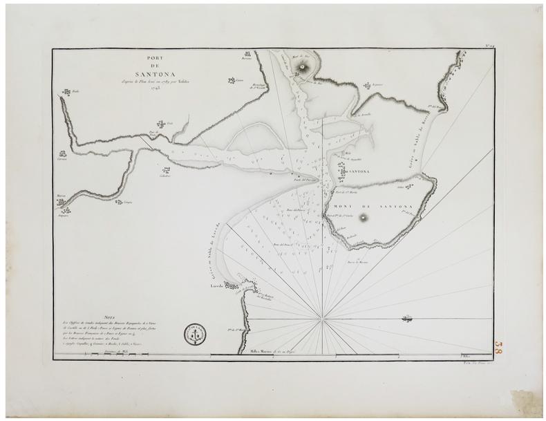 [PAYS BASQUE] Port de Santoña d'après le plan levé en 1789 par Tofiño. 1793.. TOFIÑO de SAN MIGUEL (Don Vicente).