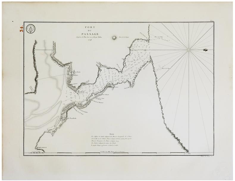 [PAYS BASQUE] Port du Passage d'après le plan levé en 1788 par Tofiño. 1793.. TOFIÑO de SAN MIGUEL (Don Vicente).