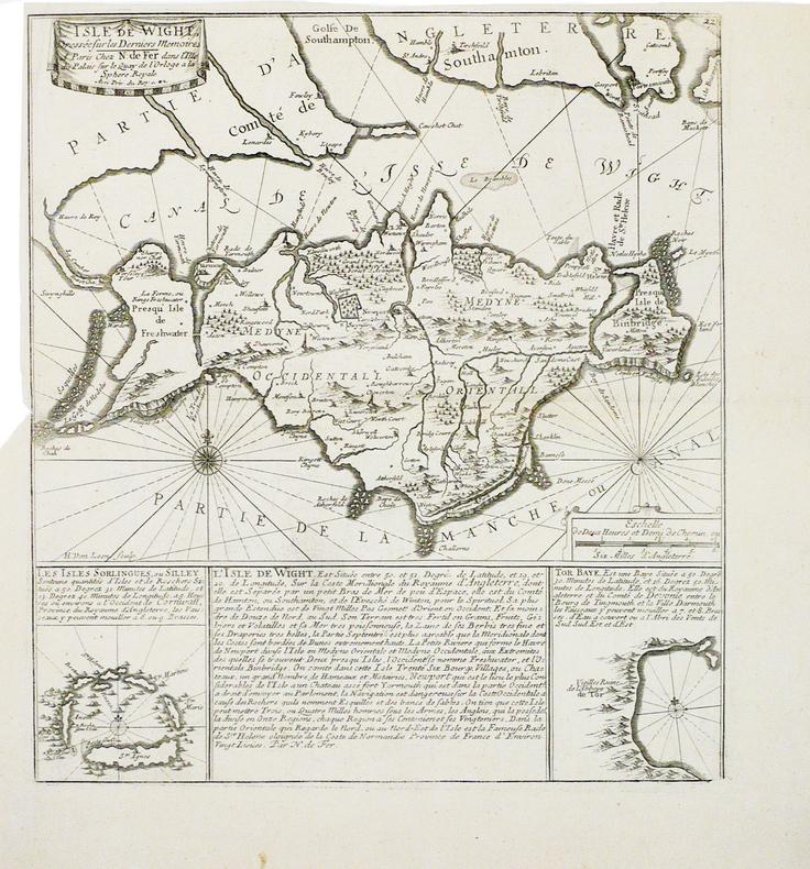 [WIGHT] L'Isle de Wight dressée sur les derniers mémoires.. FER (Nicolas de).