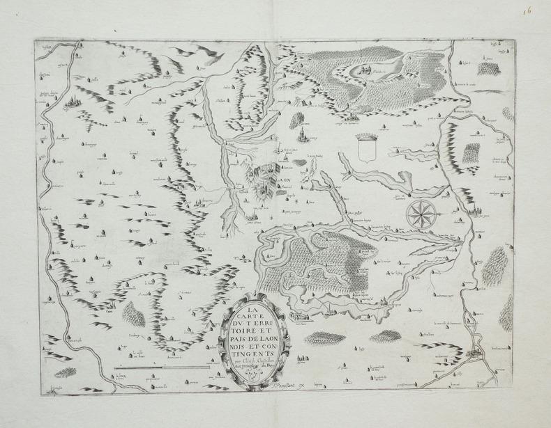 [PICARDIE] La carte du territoire et pais de Laonnois et contingents.. BOISSEAU (Jean) & CHASTILLON (Claude de).