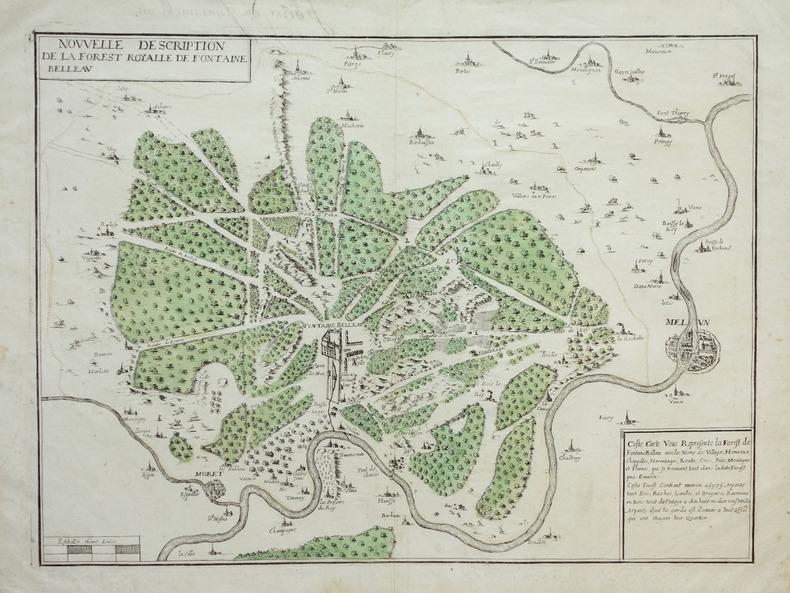 [FORET de FONTAINEBLEAU] Nouvelle description de la forest royalle de Fontaine Belleau.. BOISSEAU (Jean).