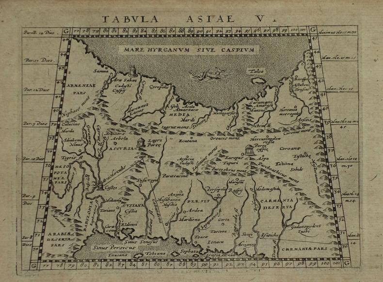 [IRAN/AFGHANISTAN/PAKISTAN] Tabula Asiae V.. MAGINI (Giovanni Antonio) & PTOLEMEE (Claude).