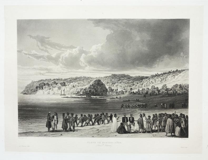 [NOUVELLE-ZELANDE] Plage de Korora-Rêka (Nouv.lle Zélande).. LAPLACE (Cyrille Pierre Théodore).