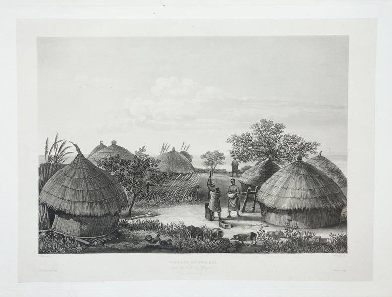 [GUINEE] Village de Bel-Air sur la côte d'Afrique.. LAPLACE (Cyrille Pierre Théodore).