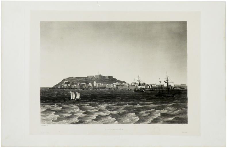 [ILE de GOREE/SENEGAL] Ile-de-Gorée.. LAPLACE (Cyrille Pierre Théodore).