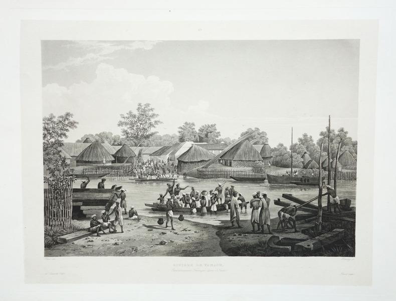 [INDE] Rivière de Yanaon. Etablissement français dans l'Inde.. LAPLACE (Cyrille Pierre Théodore).