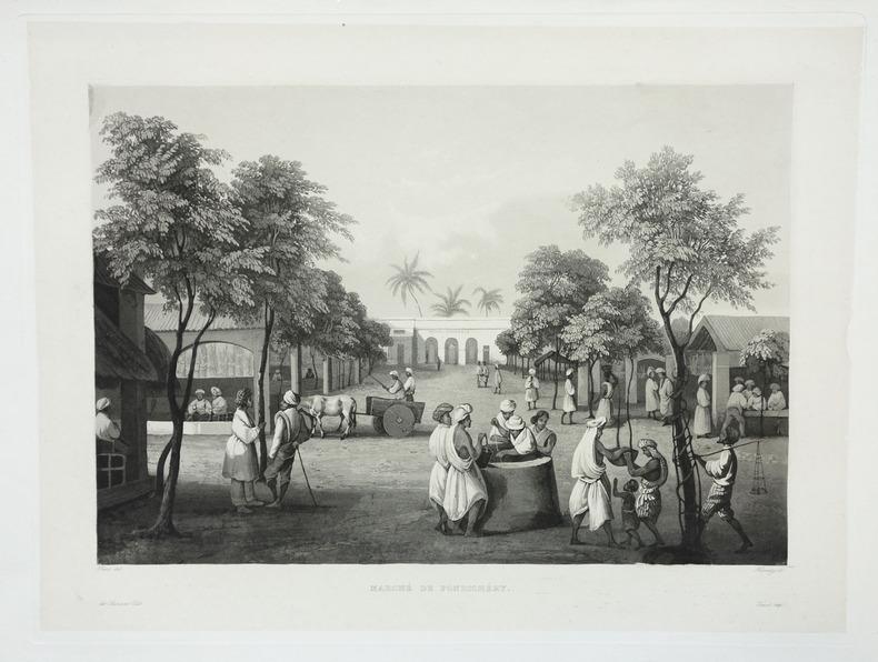 [INDE] Marché de Pondichéry.. LAPLACE (Cyrille Pierre Théodore).