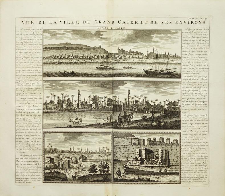 [LE CAIRE] Vûë de la ville du grand Caire, et de ses environs.. CHATELAIN (Henry Abraham).