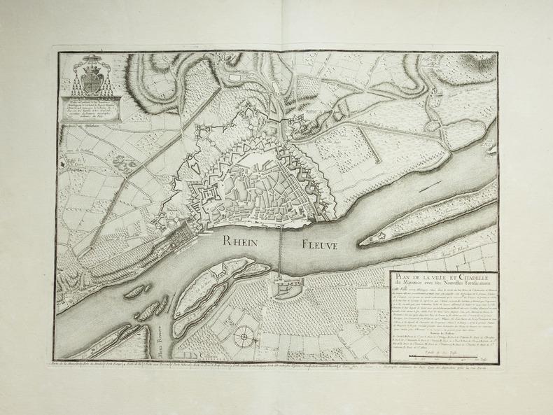 [MAYENCE/MAINZ] Plan de la ville et citadelle de Mayence, avec ses nouvelles fortifications.. BEAURAIN (Jean de).