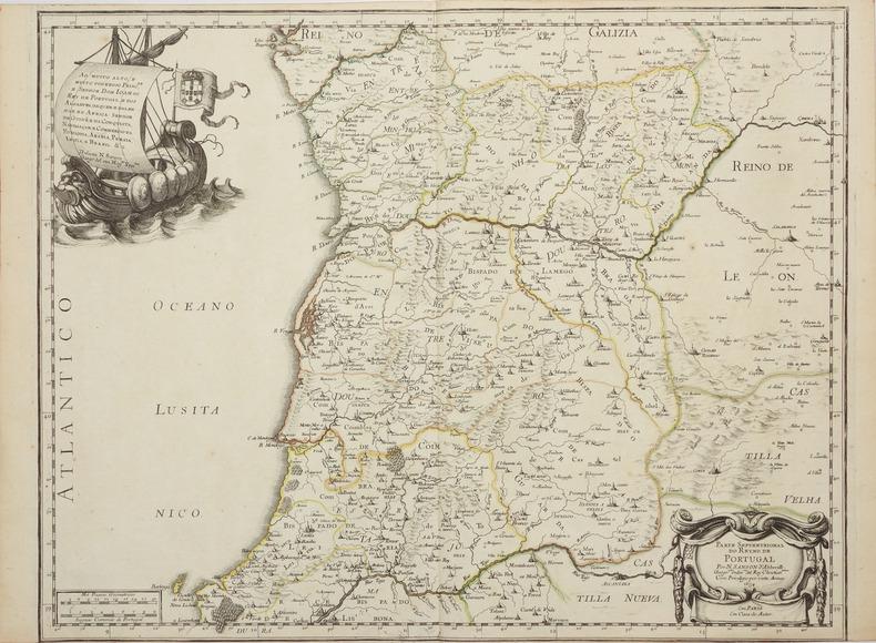 [PORTUGAL] Parte septentrional do reyno de Portugal - Parte meridional do reyno de Portugal.. SANSON d'ABBEVILLE (Nicolas).