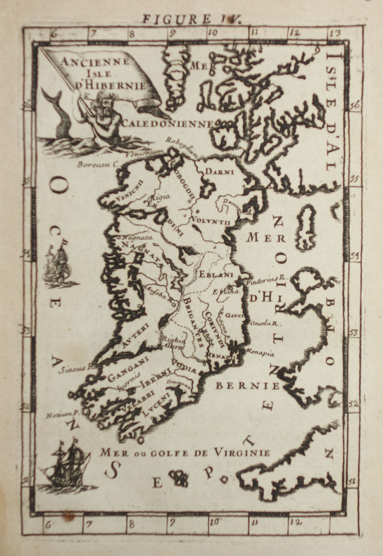 [IRLANDE] Ancienne isle d'Hibernie.. MANESSON-MALLET (Allain).