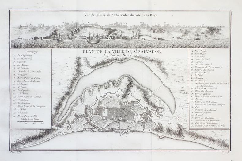 [BRESIL] Plan de la ville de St. Salvador capitale du Brésil.. BELLIN (Jacques-Nicolas).