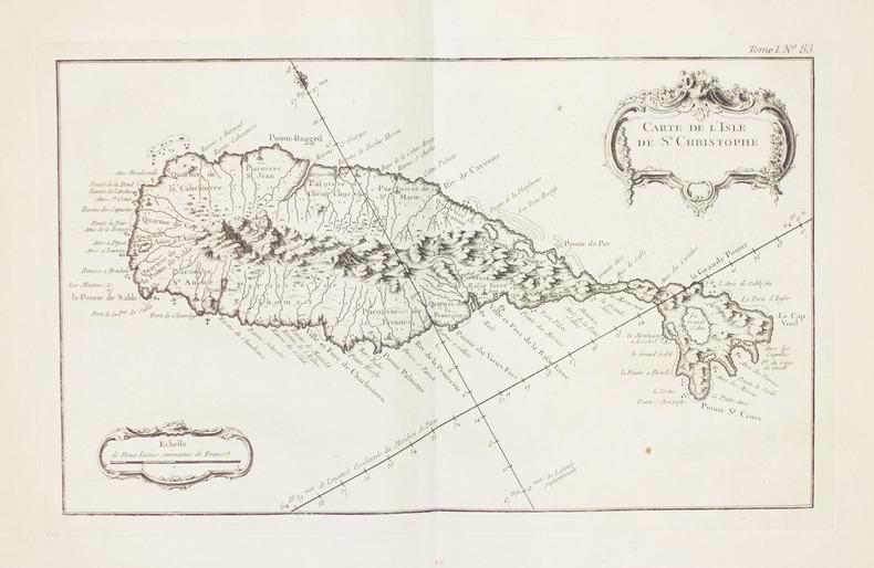 [SAINT KITTS] Carte de l'sle de St. Christophe.. BELLIN (Jacques-Nicolas).