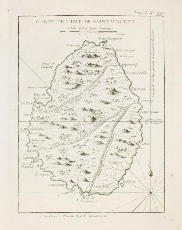 [SAINT-VINCENT] Carte de l'isle de Saint Vincent.. BELLIN (Jacques-Nicolas).
