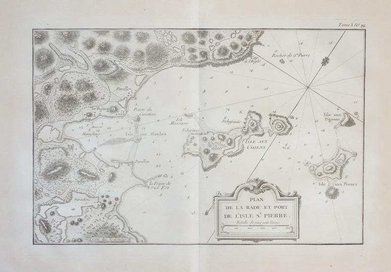 [SAINT-PIERRE-et-MIQUELON] Plan de la rade et port de l'isle St. Pierre.. BELLIN (Jacques-Nicolas).
