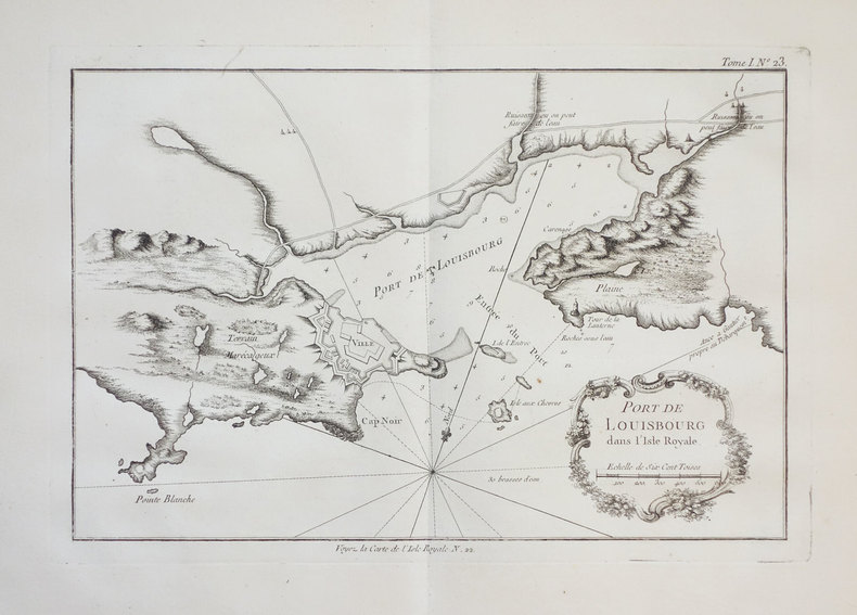 [ILE du CAP-BRETON] Port de Louisbourg dans l'Isle Royale.. BELLIN (Jacques-Nicolas).