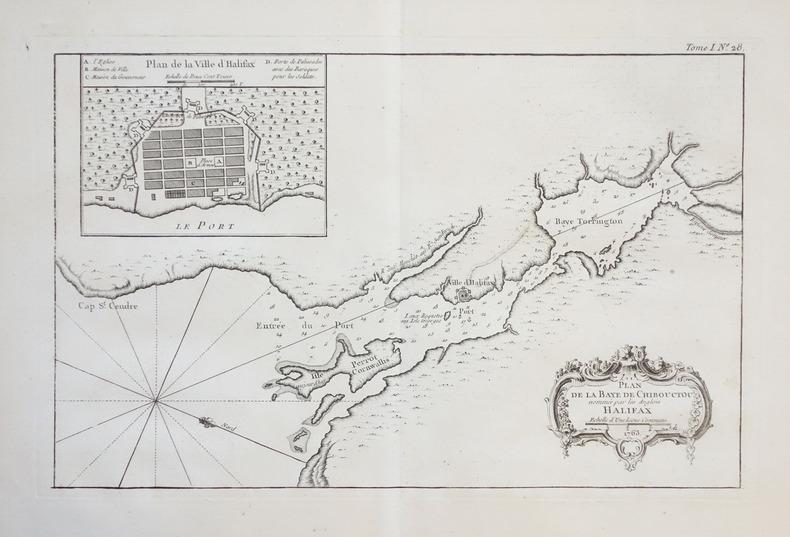 [HALIFAX] Plan de la baye de Chibouctou nommée par les Anglois Halifax.. BELLIN (Jacques-Nicolas).