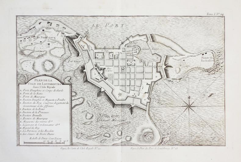 [LOUISBOURG/ILE du CAP-BRETON] Plan de la ville de Louisbourg dans l'Isle Royale.. BELLIN (Jacques-Nicolas).