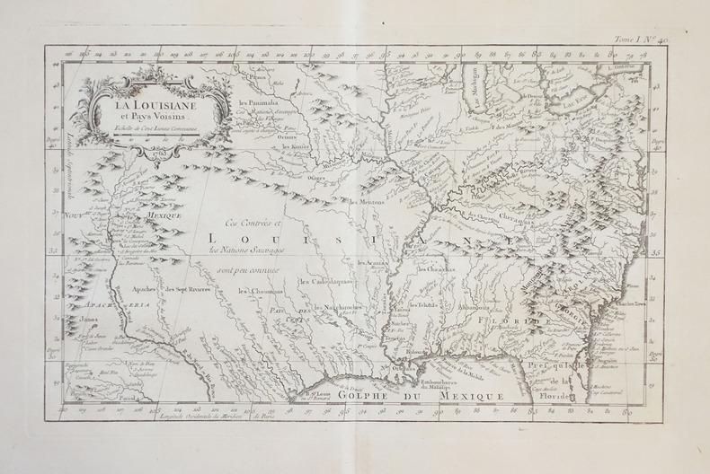 La Louisiane et pays voisins.. BELLIN (Jacques-Nicolas).