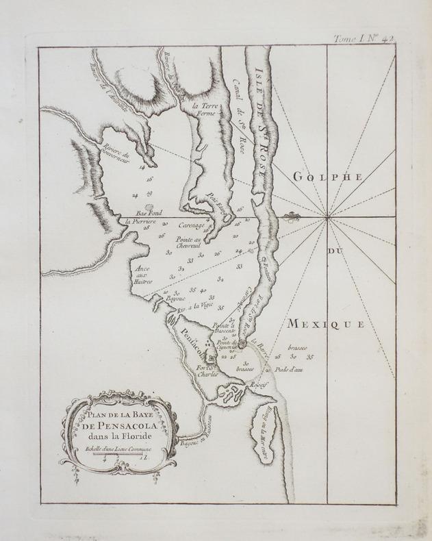 [PENSACOLA] Plan de la baye de Pensacola dans la Floride.. BELLIN (Jacques-Nicolas).