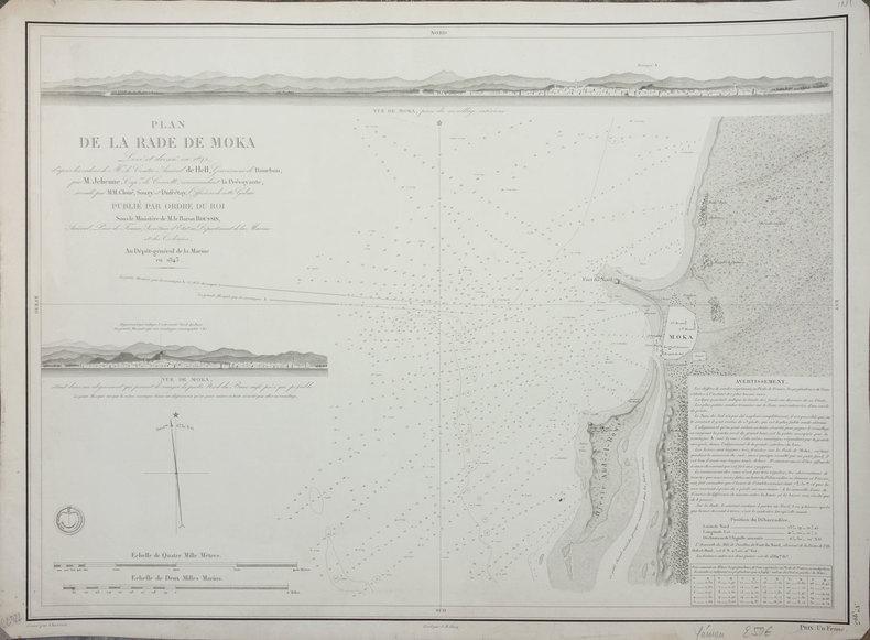 [YEMEN] Plan de la rade de Moka.. DEPOT-GENERAL DE LA MARINE.