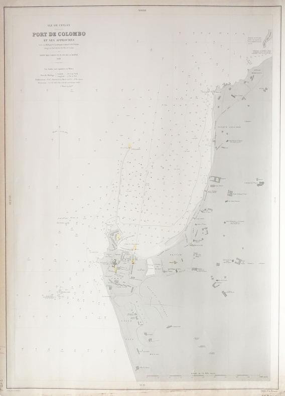 [CEYLAN/SRI LANKA] Ile de Ceylan. Port de Colombo et ses approches.. SERVICE HYDROGRAPHIQUE DE LA MARINE.