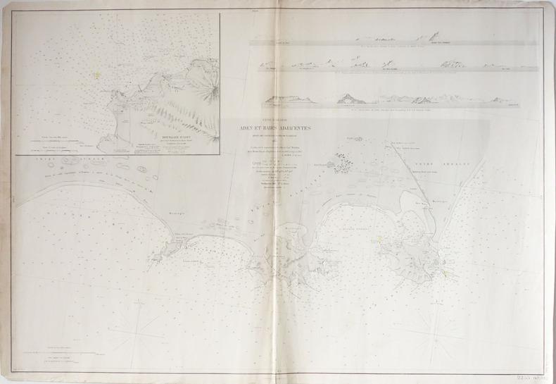 [YEMEN] Côte d'Arabie. Aden et baies adjacentes.. DEPOT des CARTES et PLANS de la MARINE.