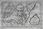 Carte de la Baye de Chesapeack et pays voisins.. BELLIN (Jacques-Nicolas).