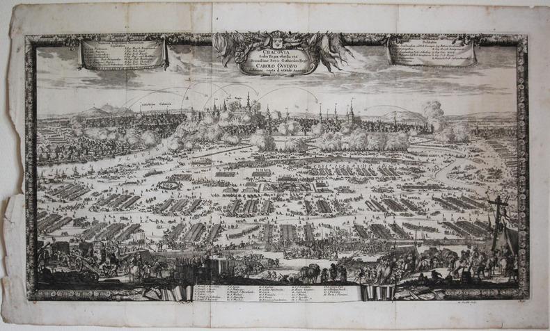 [CRACOVIE] Cracovia sedes regia obsessa et a serenissimo Sveo. Gothorum rege Carolo Gustavo ... 1655.. PUFENDORF (Samuel).