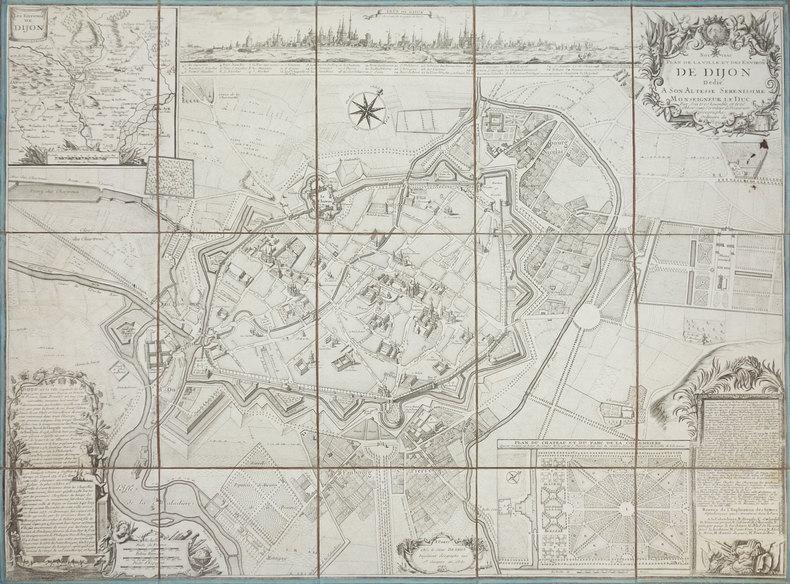 [DIJON] Nouveau plan de la ville et des environs de Dijon.. BEAURAIN (Jean de).
