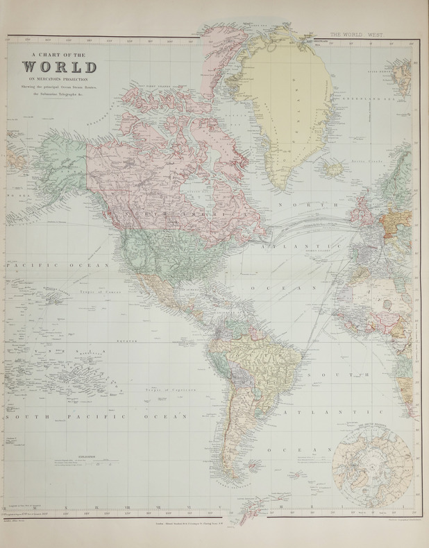 A Chart of the World on Mercator's projection.. STANFORD (Edward).