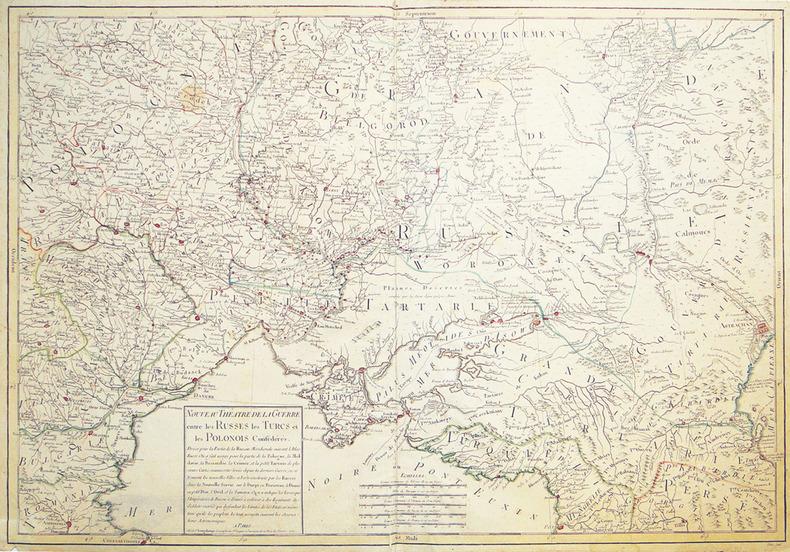 Nouveau théâtre de la guerre entre les Russes les Turcs et les Polonois confédérés.. LONGCHAMPS (Sébastien).