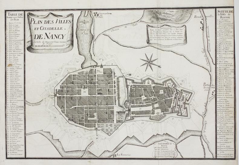 Plan des villes et citadelle, de Nancy.. BUGNON (Didier).