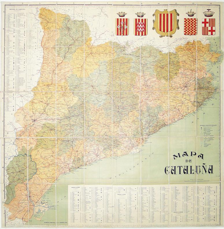 [CATALOGNE] Mapa de Cataluña.. MARTIN (Alberto).