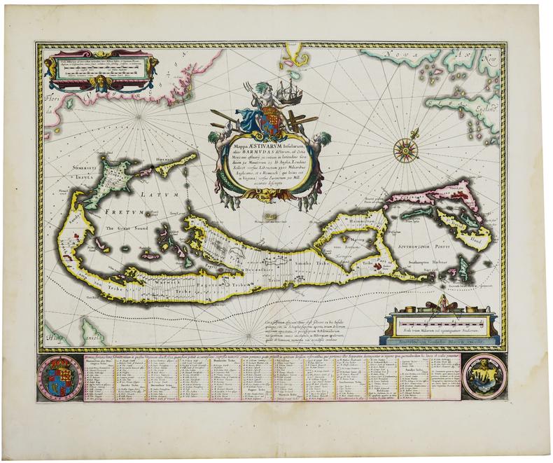 [BERMUDES] Mappa aestivarum insularum, alias Barmudas.. BLAEU (Willem).