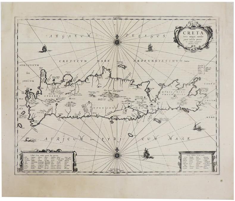 [CRETE] Creta iovis magni, medio jacet insula ponto.. JANSSON (Johannes).