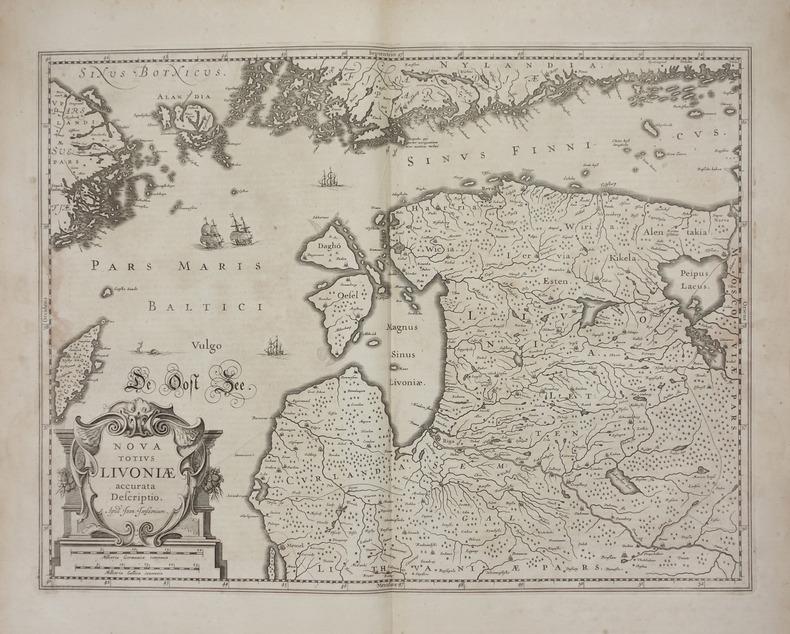 [ESTONIE/LETTONIE] Nova totius Livoniae accurata descriptio.. JANSSON (Joannes).
