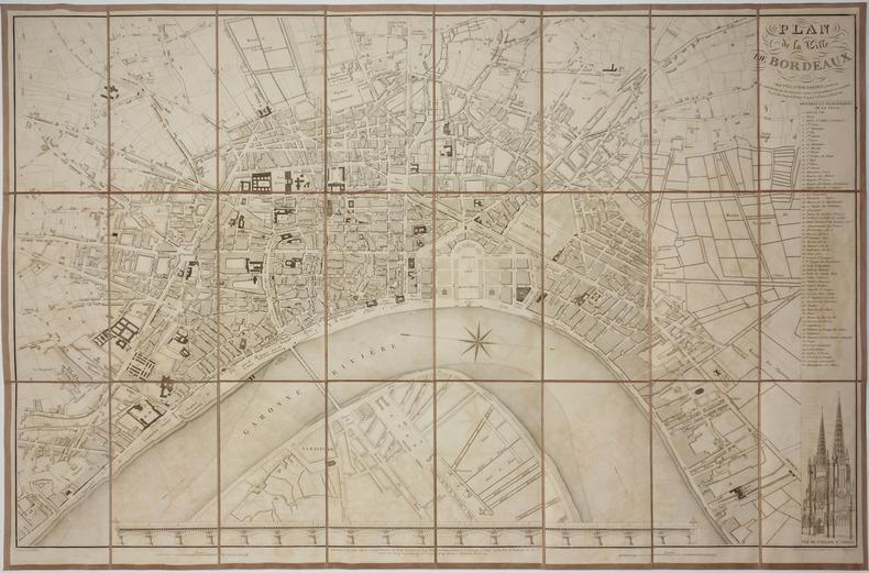 [BORDEAUX] Plan de la ville de Bordeaux.. TARDIEU (Jean-Baptiste).