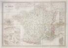 Nouvelle carte de la France et de ses colonies.. VUILLEMIN (Alexandre).