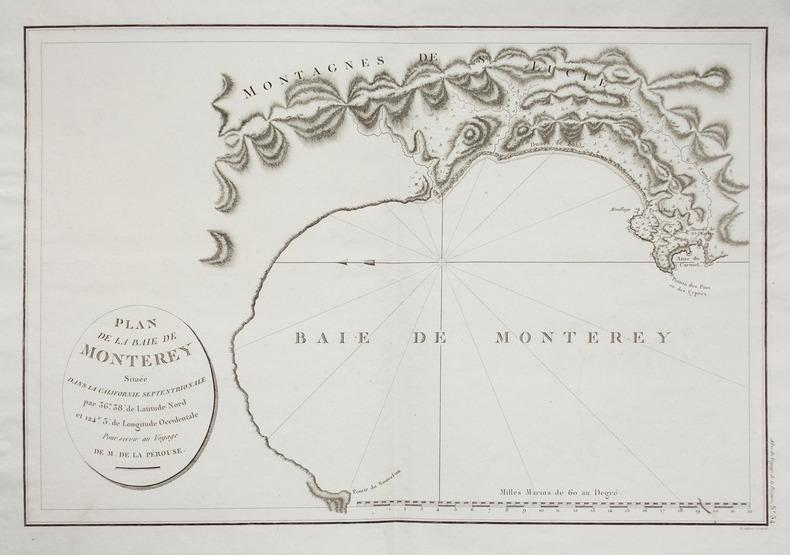 [MONTEREY] Plan de la baie de Monterey située dans la Californie septentrionale.. LA PÉROUSE (Jean-François de Galaup, comte de).