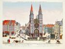 [NUREMBERG] Façade de l'église de S. Laurent à Nuremberg.. DELSENBACH (Johann Adam) & LEIZELT (Balthasar Friedrich).