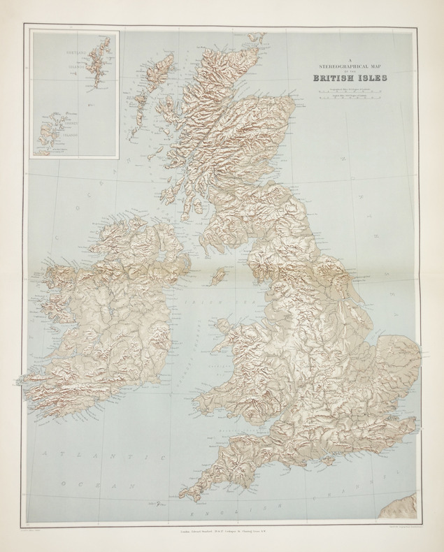 A stereographical map of the British Isles.. STANFORD (Edward).