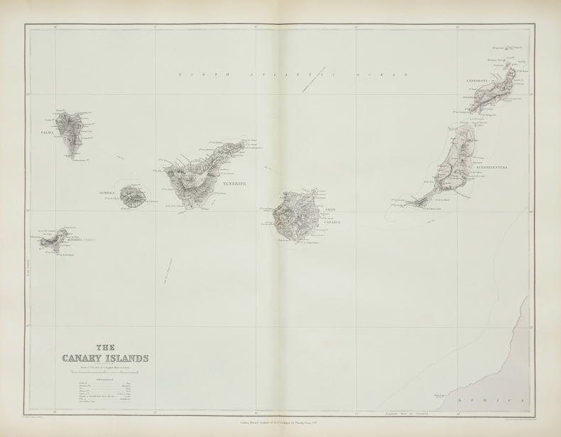 [CANARIES] The Canary Islands (Spanish).. STANFORD (Edward).