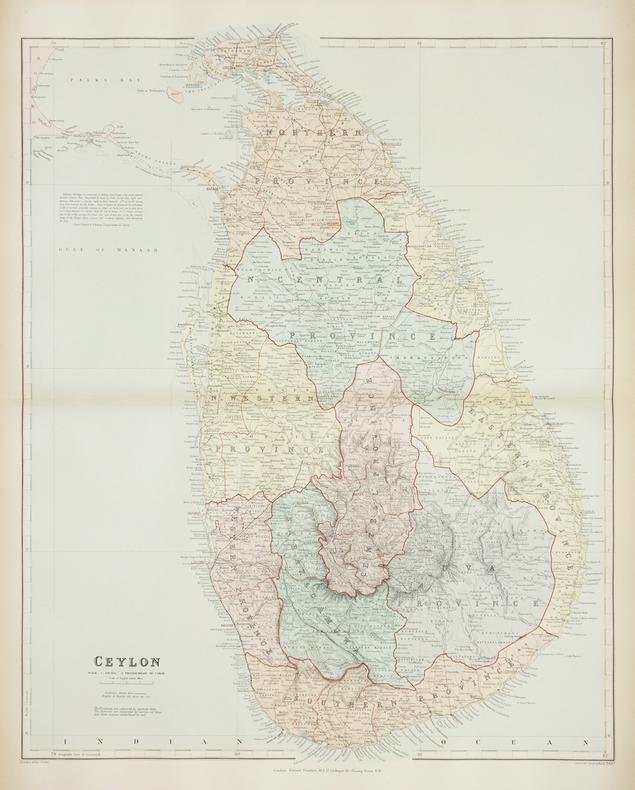 [CEYLAN/SRI LANKA] Ceylon.. STANFORD (Edward).