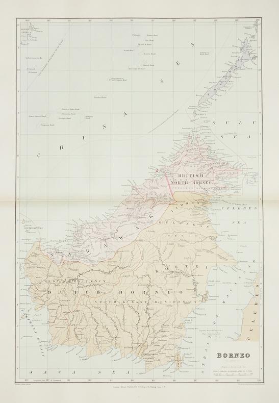 Borneo.. STANFORD (Edward).